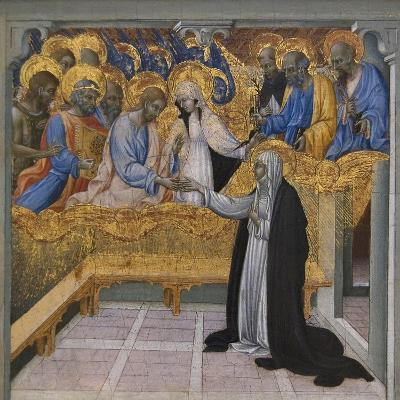 Mystic Marriage of Saint Catherine of Siena-Giovanni di Paolo-Art Print