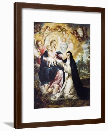 Mystic Marriage of Saint Rose of Lima-Nicolas Desliens-Framed Giclee Print