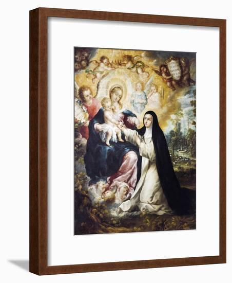 Mystic Marriage of Saint Rose of Lima-Nicolas Desliens-Framed Giclee Print
