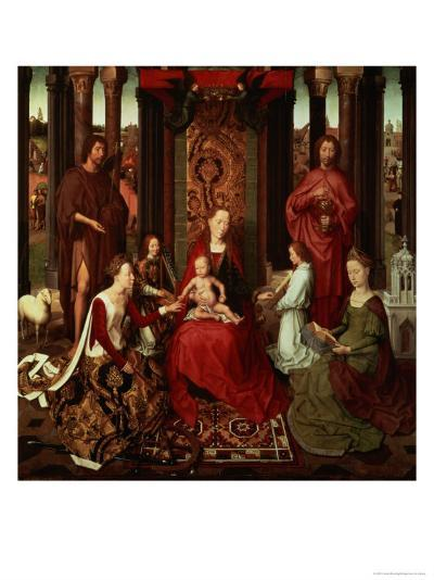 Mystic Marriage of St. Catherine and Other Saints-Hans Memling-Giclee Print