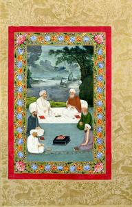 Mystical Conversation Between Sufic Sheikhs (Miniature)