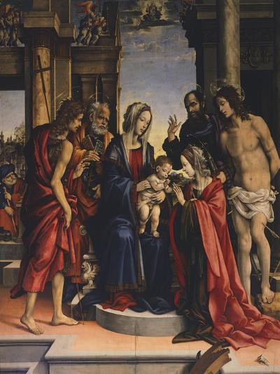 Mystical Marriage of Saint Catherine of Alexandria--Giclee Print