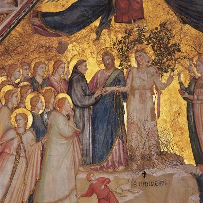 Mystical Marriage of St. Francis to Poverty-Giotto di Bondone-Art Print