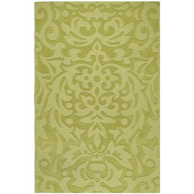 Mystique Damask Area Rug - Lime 5' x 8'--Home Accessories
