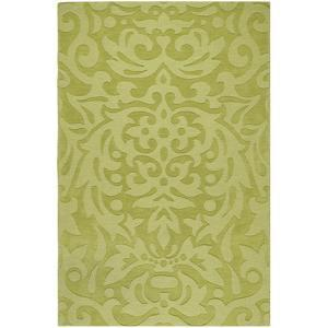 Mystique Damask Area Rug - Lime 5' x 8'