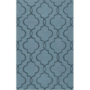 Mystique Patterns Area Rug - Teal 5' x 8'