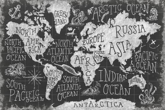 Mythical Map I-Mary Urban-Art Print