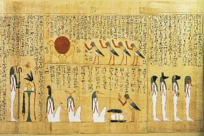 Mythological Papyrus of Imenemsauf, Chief Bearer of Amon--Giclee Print