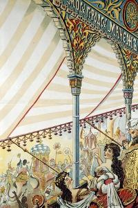 Poster for the Moscow Circus Ring, 1898 by N. Denisov