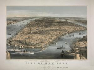1856 NYC Map by N^ Harbick