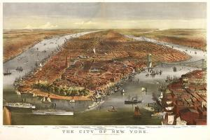 1870 NYC Map by N. Harbick