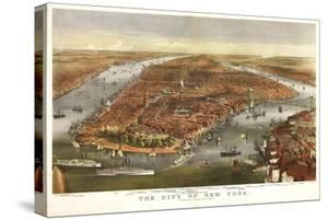 1870 NYC Map by N^ Harbick