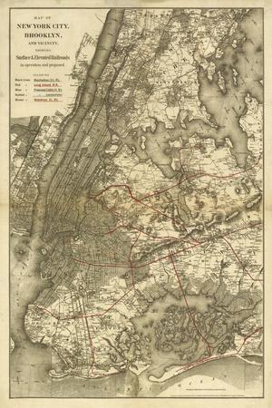 1885 NYC Map