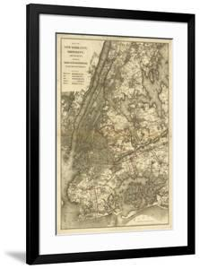 1885 NYC Map by N^ Harbick