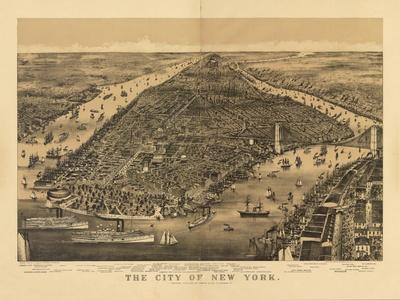 1889 NYC Map