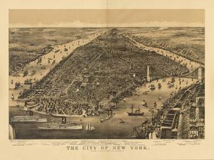 1889 NYC Map by N^ Harbick