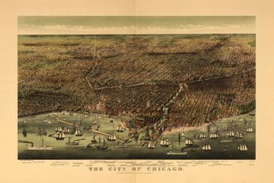1892 Chicago Map by N. Harbick