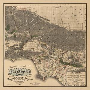 1900 LA Road Map by N^ Harbick