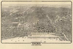 1910 Chicago Map by N^ Harbick
