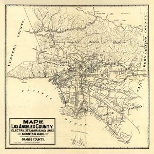 1912 LA Railway Map by N^ Harbick