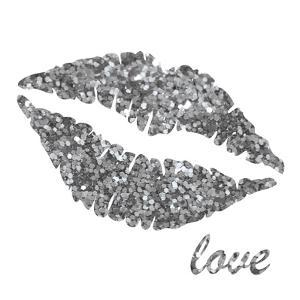 Glitter Lips Sq II by N^ Harbick
