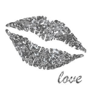 Glitter Lips Sq II by N^ Harbick