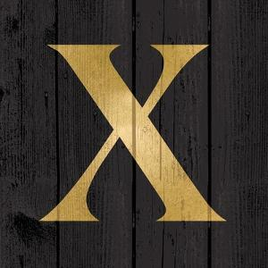 Gold Alphabet X by N^ Harbick