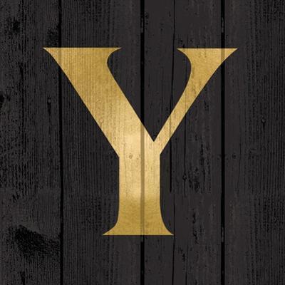 Gold Alphabet Y by N. Harbick