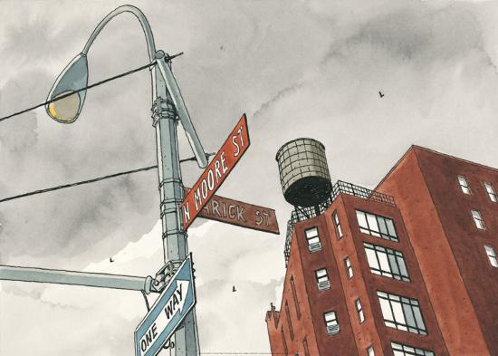 N. Moore Street-Andr? Juillard-Art Print
