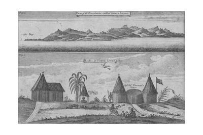 'View of Mountains called Sierra Leone & Houses at Sierra Leone', c18th century