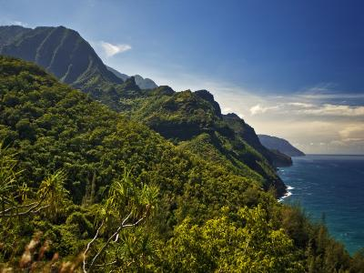 Na Pali Coast, as Seen from the Kalalau Trail-Merten Snijders-Photographic Print