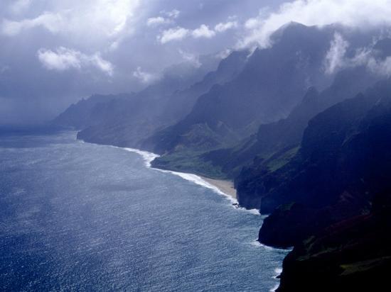Na Pali Coast, Kauai, Hawaii-Michele Burgess-Photographic Print