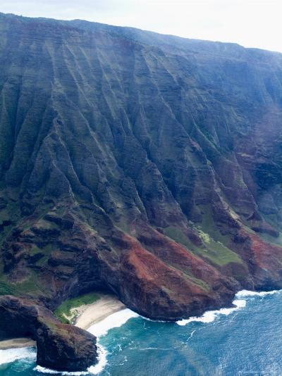 Na Pali, North Coast of the Island of Kauai, Hawaii, USA-Ethel Davies-Photographic Print