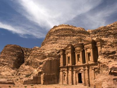 Nabatean tombs of Petra in Jordan-Jeremy Horner-Photographic Print