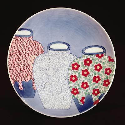 Nabeshima Dish, Edo Period-Japanese School-Giclee Print