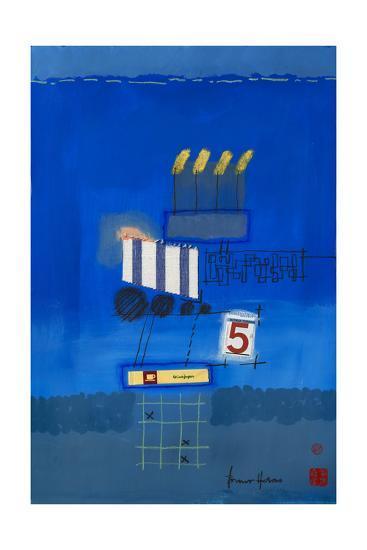 Nacht Wird Tag Collage-Bruno Haas-Premium Giclee Print