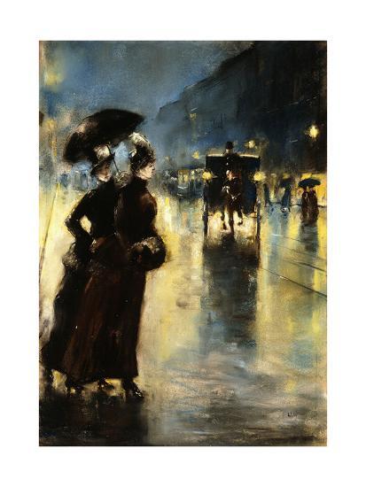 Nactbeleuchtung-Lesser Ury-Giclee Print