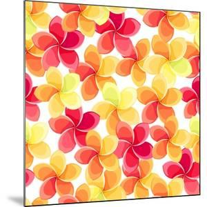 Background with Colorful Flowers by Naddiya