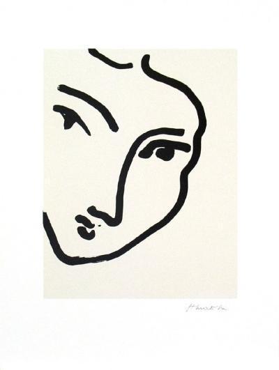 Nadia au Menton Pointu, 1948-Henri Matisse-Art Print
