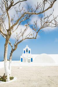 A Church in Oia, Santorini, Greece by Nadia Isakova