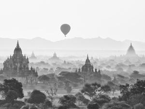 Balloon Over Bagan at Sunrise, Mandalay, Burma (Myanmar) by Nadia Isakova