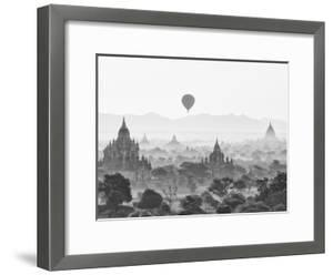 Balloon Over Bagan at Sunrise, Mandalay, Burma (Myanmar) by Nadia Isakova