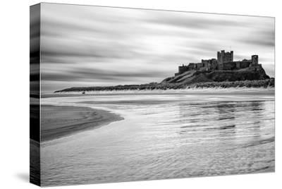 Bamburgh Castle and Beach at Low Tide, Northumberland, Uk