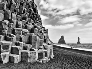 Basalt Columns and Sea Stacks, Reynisfjara, Iceland by Nadia Isakova