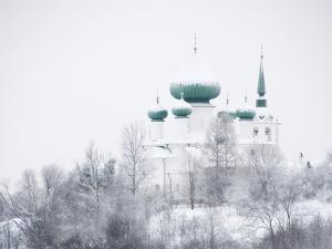 Church of St. John the Baptist in Winter, Staraya Ladoga, Leningrad Region, Russia by Nadia Isakova