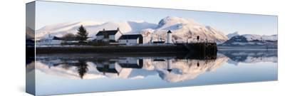 Corpach Lighthouse on Loch Eil with Ben Nevis and Fort William in the Background, Highland Region,
