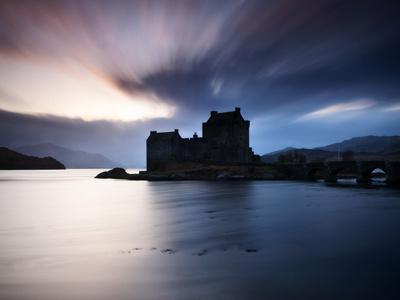 Eilean Donan Castle at Sunset, Scotland, UK