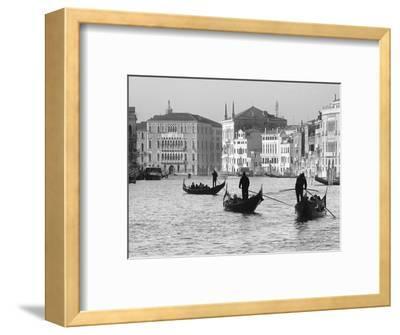 Gondoliers on the Gran Canal, Venice, Veneto Region, Italy