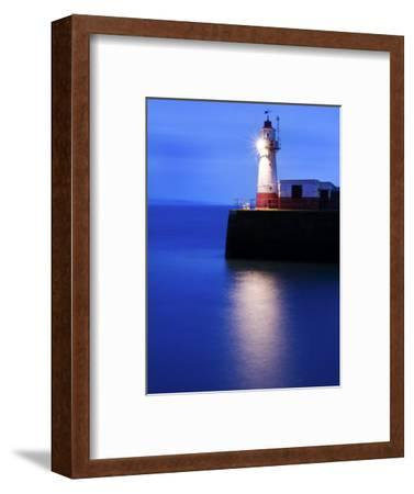 Lighthouse at the End of the Newlyn Pier at Dawn, Long Exposure, Newlyn, Cornwall, UK