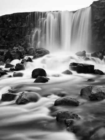 Oxararfoss Waterfall, Pingvellir National Park, Iceland by Nadia Isakova